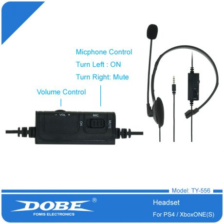DOBE-PS-4-Headset-with-Microphone-Volume