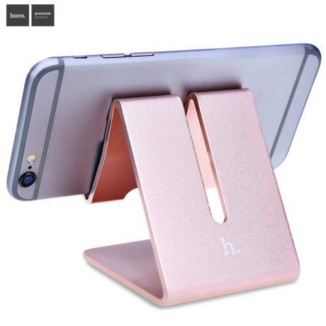 ORO-ROSA-HOCO-P1-Tri-ngulo-Forma-Soporte-del-Tel-fono-M-vil-de-Aluminio-tablet
