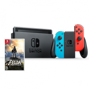 CONSOLA NINTENDO SWITCH NEON + ZELDA BREATH OF THE WILD