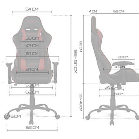 silla-gaming-drift-dr125-medidas